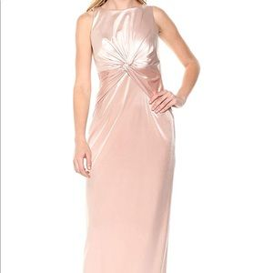 Adrianna Papell halter formal full length gown